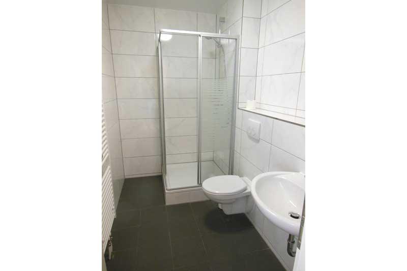 Boardinghouse Dusche eines Einzelzimmers